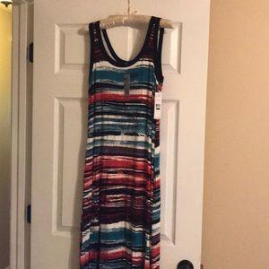 NWT Women's Large Striped Karen Kane Maxi Dress